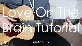 how to play love on the brain rihanna guitar tutorial lesson