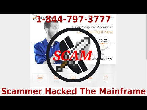Scammer Hacked The Mainframe | MTESolutions | 1-844-797-3777