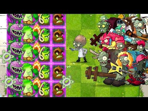 Chomper Strategy Fight! Plants vs Zombies 2 Mod Max Level Plants  Power Up vs All Gargantuar