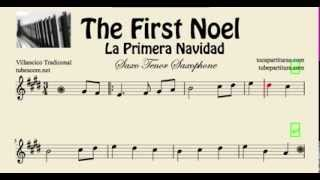 La Primera Navidad Partitura de Saxo Tenor The First Noel