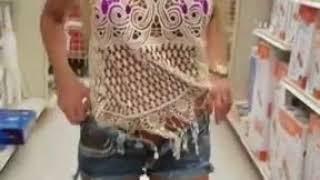 Girl Gets Hot In Walmart
