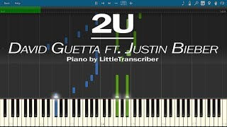 David Guetta ft. Justin Bieber - 2U (Piano Cover) by LittleTranscriber