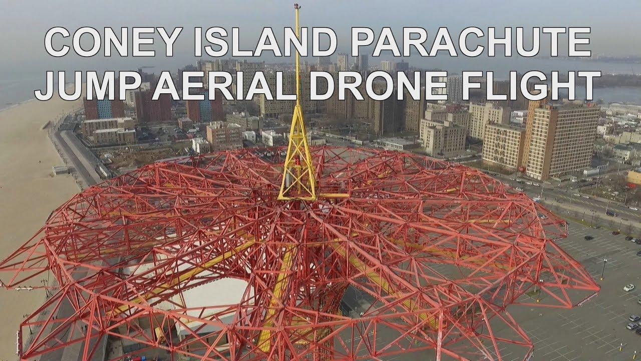 Parachute Drop At Coney Island