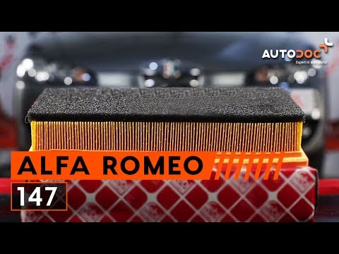 How to replace engine air filter on ALFA ROMEO 147 [TUTORIAL]