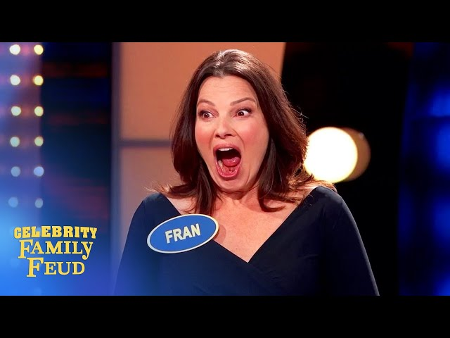 Can Fran Drescher and team come from behind on Celebrity Family Feud?