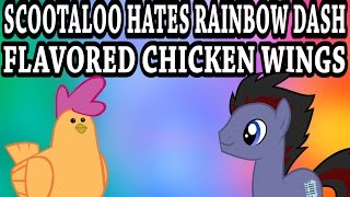 Blind Commentary - [YTP] Scootaloo hates Rainbow Dash flavored chicken wings
