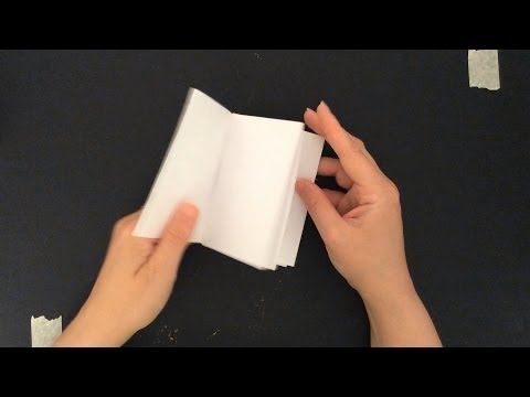HOW TO MAKE A BOOK FROM A SINGLE SHEET OF PAPER
