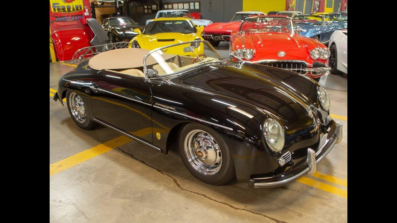 SOLD 1957 Midnight Black Beck Speedster (Porsche 356 re-creation) for sale  by Corvette Mike