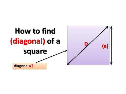 how to find the diagonal of a square youtube
