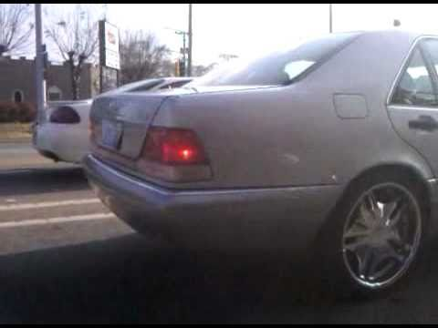 W140 mercedes benz s420 on 20 inch forte rims youtube for Mercedes benz 20 inch rims