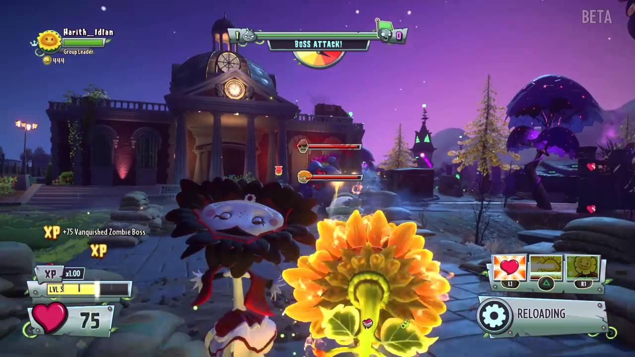 More Plants Vs Zombies Garden Warfare 2 Gameplay Vampire Sunflower