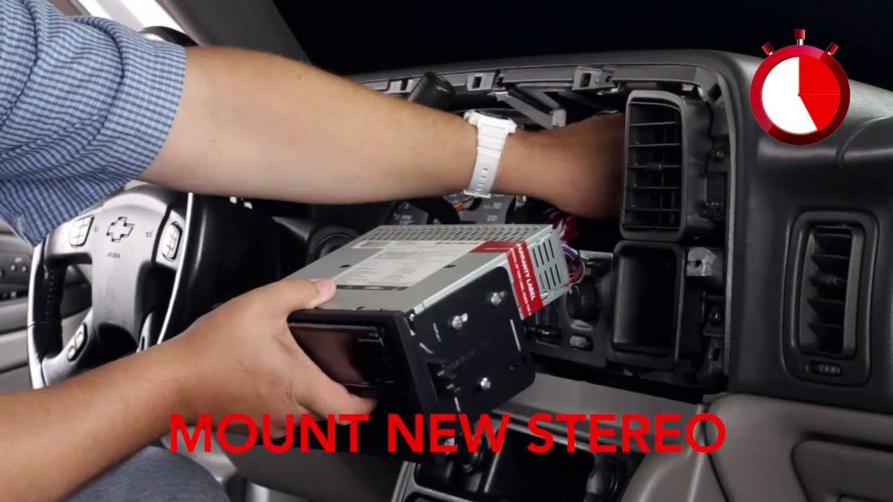 Basic Installation Of An Aftermarket Stereo Into A Gm Vehicle Youtube 2000 Silverado Wiring Harness Pinout