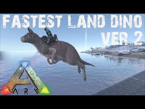 ARK Survival Evolved - Fastest Land Dino Speed Testing with Timers Controlled Leveling!