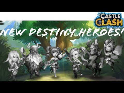 NEW DESTINY HEROES | NEW UPDATE | ARE THEY WORTH IT? | CASTLE CLASH!!!