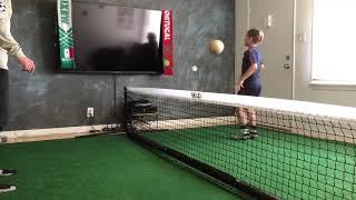 Brighton Lee Sagal vs Dad in Epic Soccer Tennis Match!!