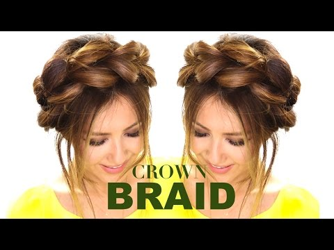 Pull Through Crown Braid Updo Hair Tutorial