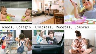 RUTINA de MAÑANA con 6 Hijos (2 Bebés Gemelas) / VUELTA AL COLEGIO / BLW / ASEOS / LIMPIEZA