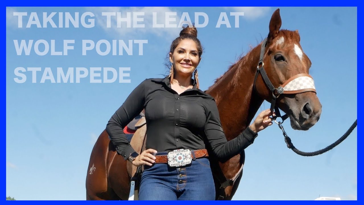 TAKING THE LEAD AT WOLF POINT STAMPEDE!