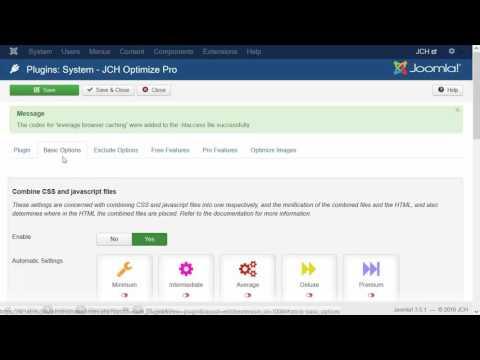 JCH Optimize: Load Joomla Fast