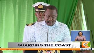 President Uhuru launches coast guard services