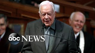 Jimmy Carter hospitalized after falling at home | ABC News
