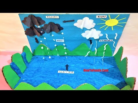 Water Cycle School Project | model | experiments for students  | best out of waste | science fair