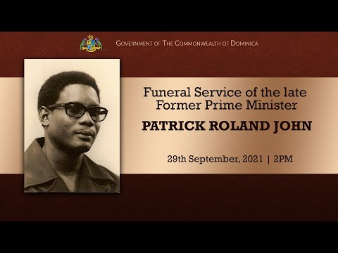Funeral Service of the late Former Prime Minister Patrick Roland John