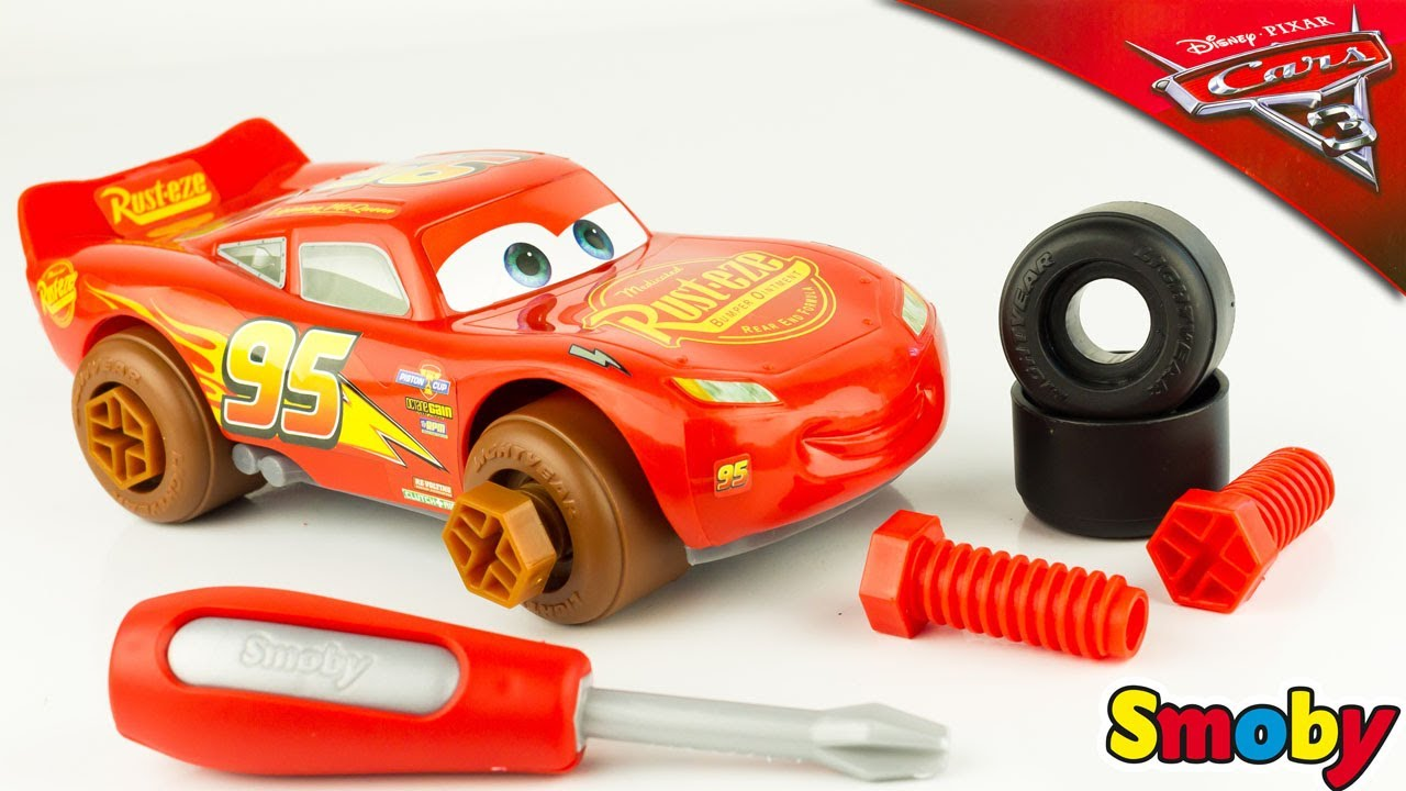 Cars 3 Jackson Storm Jouet Disney Cars 3 Lightning Mcqueen Mobile Workshop Carry Case Smoby Toy Review