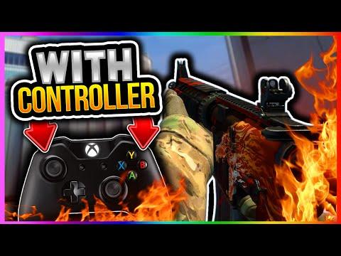 CSGO - PLAYING CSGO WITH A CONTROLLER!! CSGO Funny Moments Rage (CS GO Xbox Controller Gameplay)