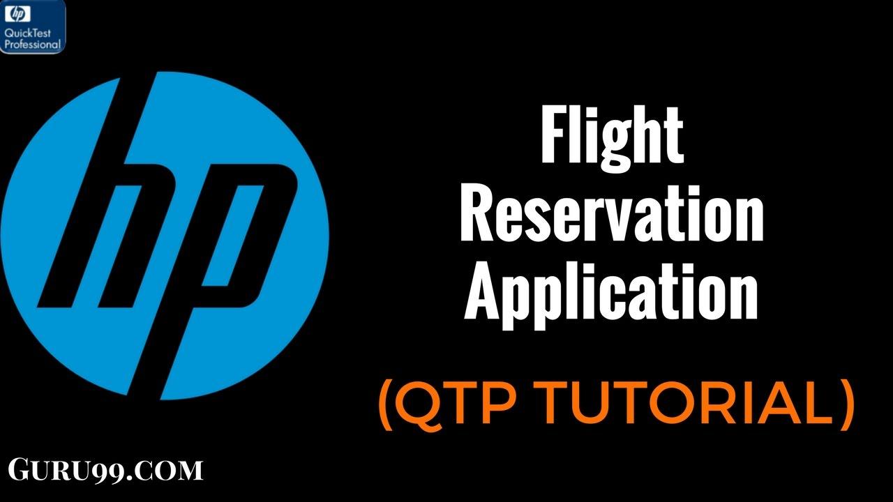 Flight Reservation Application in HP UFT/QTP