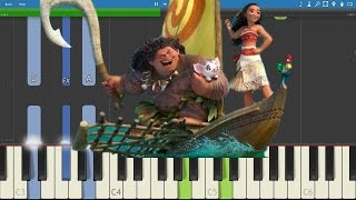 How to play An Innocent Warrior - EASY Piano Tutorial - Moana Soundtrack - Te Vaka