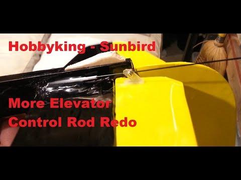 Hobbyking - Sunbird 1.6m Glider - More Elevator Control Rod Redo