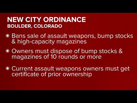 Lawsuit filed over Boulder, Colorado assault weapons ban