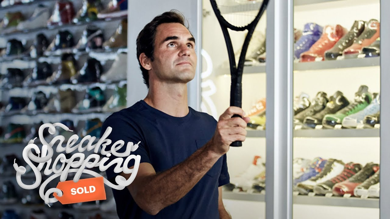 0e2ad9552000 Roger Federer Goes Sneaker Shopping With Complex - YouTube