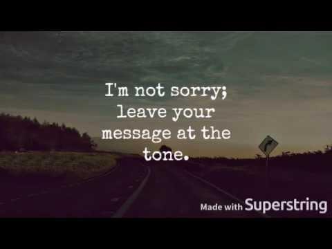 Tessa Violet // Sorry I'm Not Sorry lyrics
