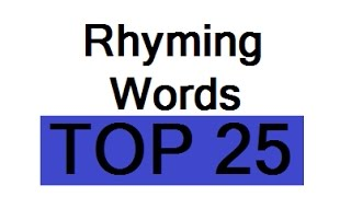 Rhymes Rhyming Words for Kindergarten Songs Song Children Preschoolers Kids Grade 1 English Learning
