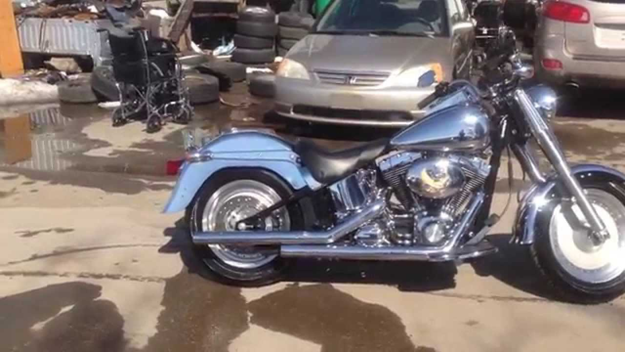2004 Harley Softail Fatboy Chrome Fenders And Tank Youtube