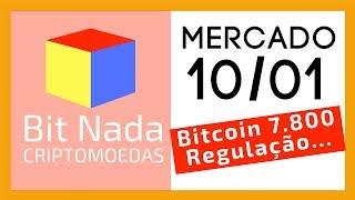 Mercado de Cripto! 10/01 Bitcoin em 7.800 / Fundos de Pensão Regulados / Atlas / GBB