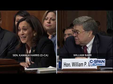 Complete exchange between Sen. Kamala Harris and Attorney General William Barr (C-SPAN)