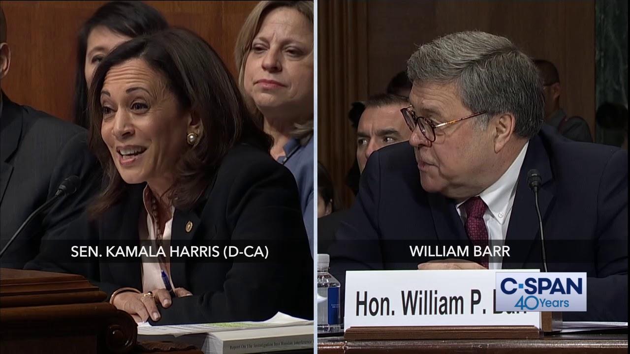 Complete Exchange Between Sen Kamala Harris And Attorney General William Barr C Span Youtube