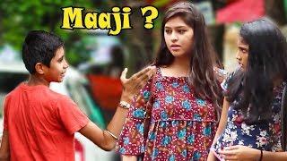 """Kid Calling Cute Girls """"Maaji"""" Prank   Part 2   Pranks In India"""