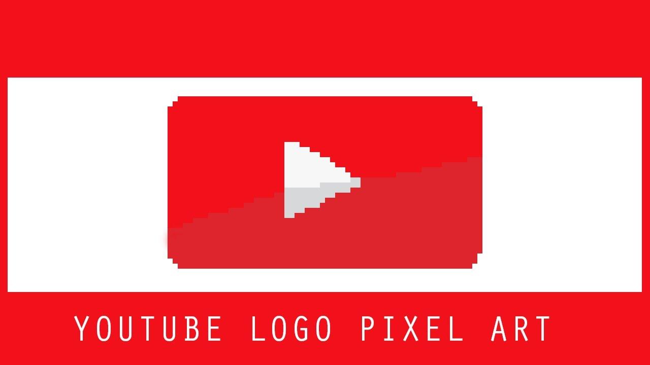Youtube Logo In Pixels Speedart Youtube