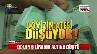 Dolar 6 Liranın altına düştü