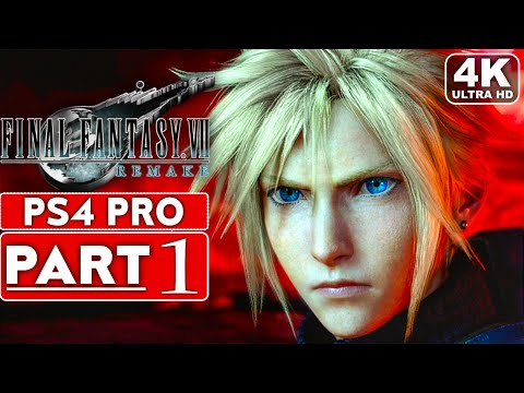 FINAL FANTASY 7 REMAKE Gameplay Walkthrough Part 1 FULL GAME [4K PS4 PRO] – No Commentary