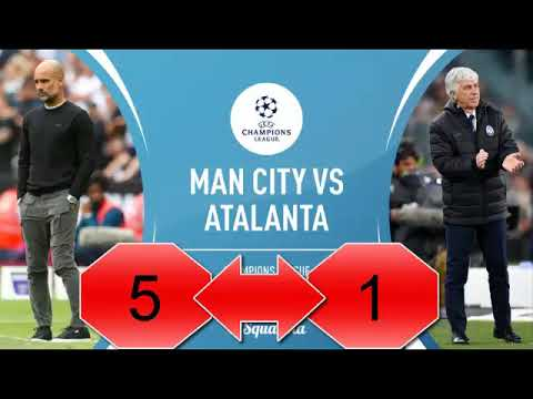 Man City Vs Atalanta 5-1 Goal Higlights 2019
