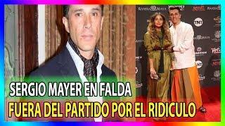 Sergio Mayer aparece en falda durante un evento !! Adios Morena!!