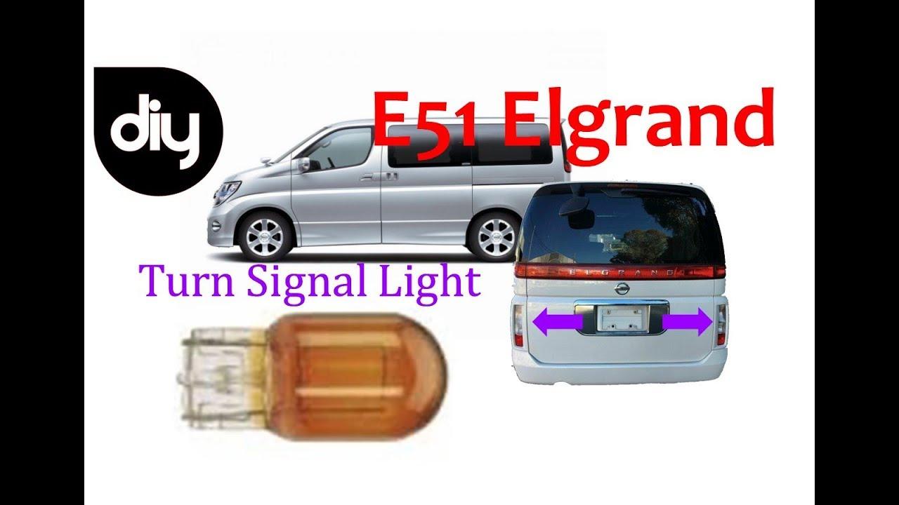 Nissan Elgrand E51 Rear Indicator Light Globe Replacment Youtube Fuse Box Diagram