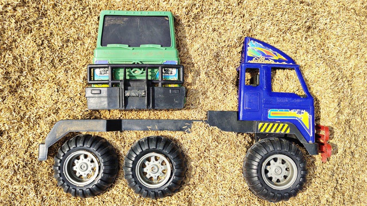 Mencari Mainan Mobil Mobilan Truk Oleng Dengan Sekop Ajaib, Mobil Oleng, Mobil Truk, Tayo,Truk Molen