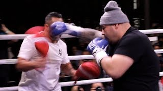 WILL HE END JOSHUA'S CAREER? - ANDY RUIZ JR SHOWS INSANE SPEED/POWER AS HE WRECKS THE PADS IN SAUDI