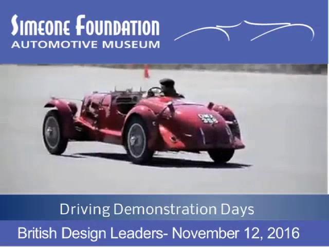 Simeone Museum Demo Day. 11/12/2016- British Design Leaders